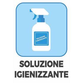 Cartello Soluzione Igienizzante