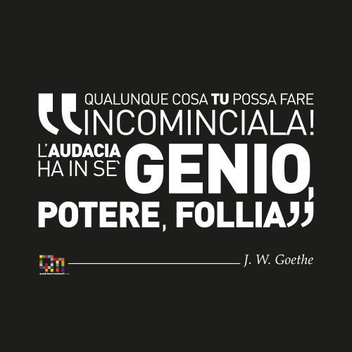 Frase Motivazionale Goethe su tela